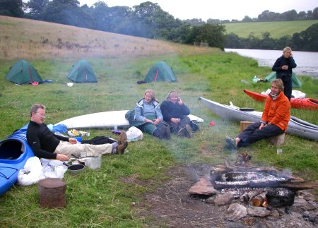 Camping at Sharpham Point